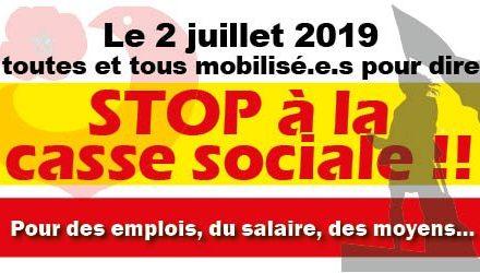 Santé : mobilisation nationale le 2 juillet 2019