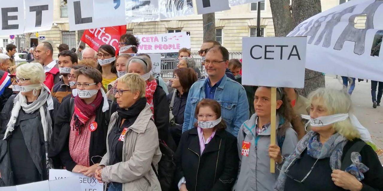 Disons NON au Ceta, cet accord de libre échange nuisible aux normes sociales et environnementales !