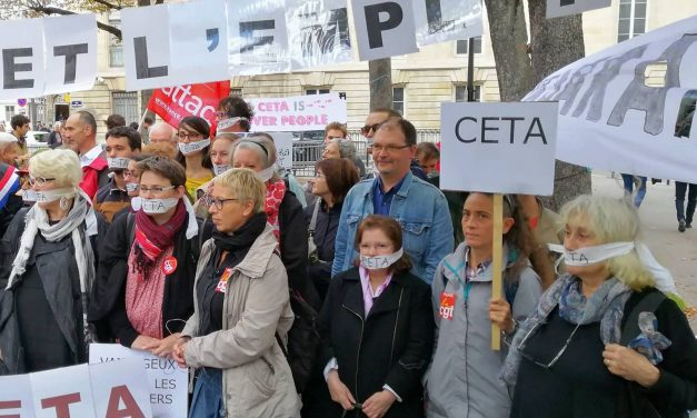 Mardi 16 juillet : rassemblement contre le CETA