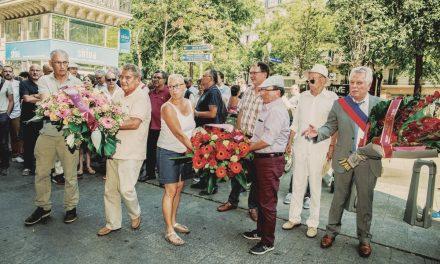 Commémoration de la Libération de la Bourse du travail de Paris