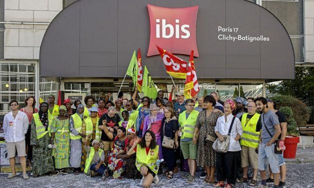 Grève des femmes de chambres de l'IBIS Batignolles : nouveau rassemblement samedi 7 septembre à midi !