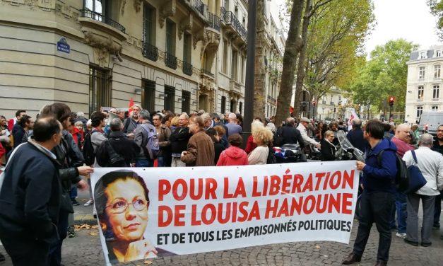 Pour la libération de Louisa Hanoune ! Prise de parole CGT Paris.