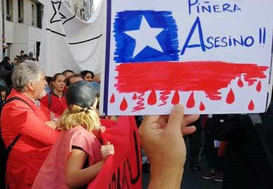 Solidarité avec le peuple chilien : rassemblement lundi 28 octobre à 18H30, République.