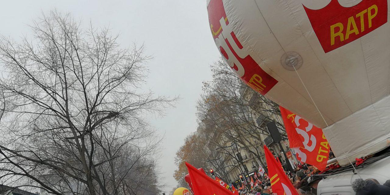 Manifestation du 5 décembre. RdV CGT Paris.