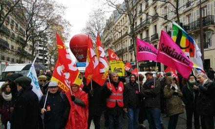 Jeudi 12 décembre manifestation interprofessionnelle parisienne Cgt Fo Solidaires Jeunes Fsu. 14h.  NATION REPUBLIQUE