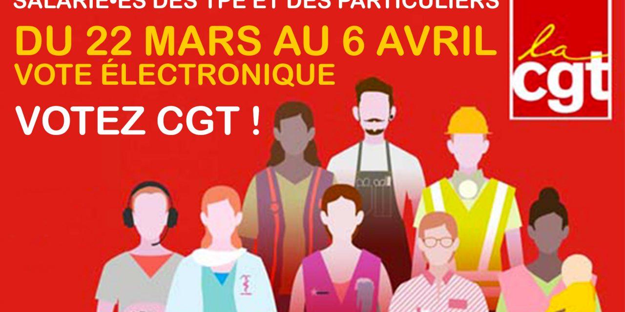 Salarié•es des TPE et des particuliers, votez CGT !