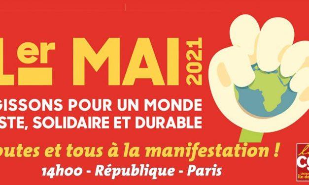 1er-Mai : pour les droits sociaux et les libertés, contre l'état d'urgence, pour la paix et la solidarité internationale