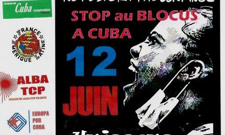samedi 12 juin : Solidarité avec le peuple cubain (11H, Place Jacques-Rueff)